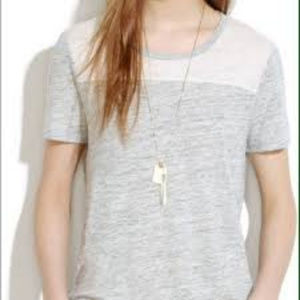 Madewell Linen Color Block Home Plate Tee - Small